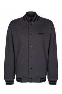 Varsity Jacket in Charcoal/Black