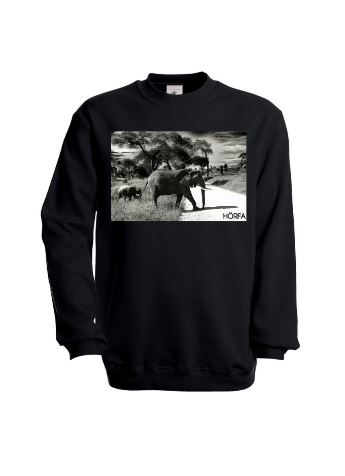 Elephant Sweatshirt in Black