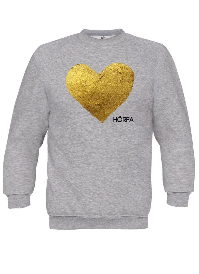 Heart öf Göld Sweatshirt in Light Grey