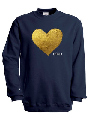 Heart öf Göld Sweatshirt in Black