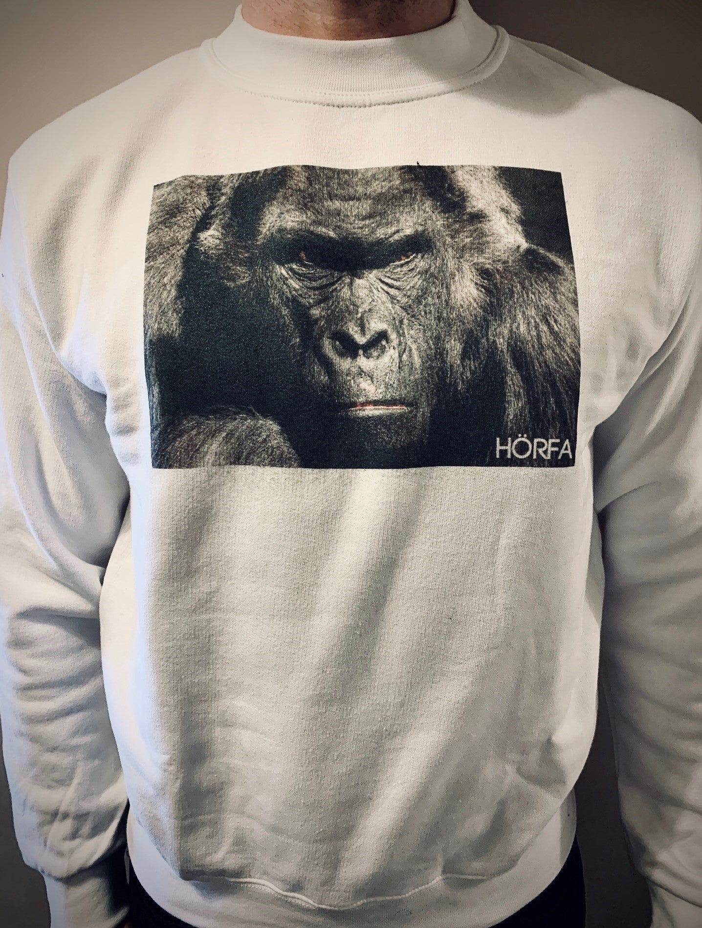 Görilla Sweatshirt in White
