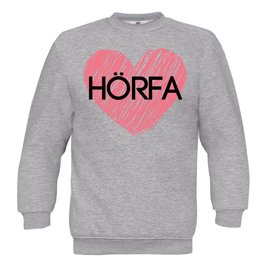 Red Heart Sweatshirt in Steel Grey