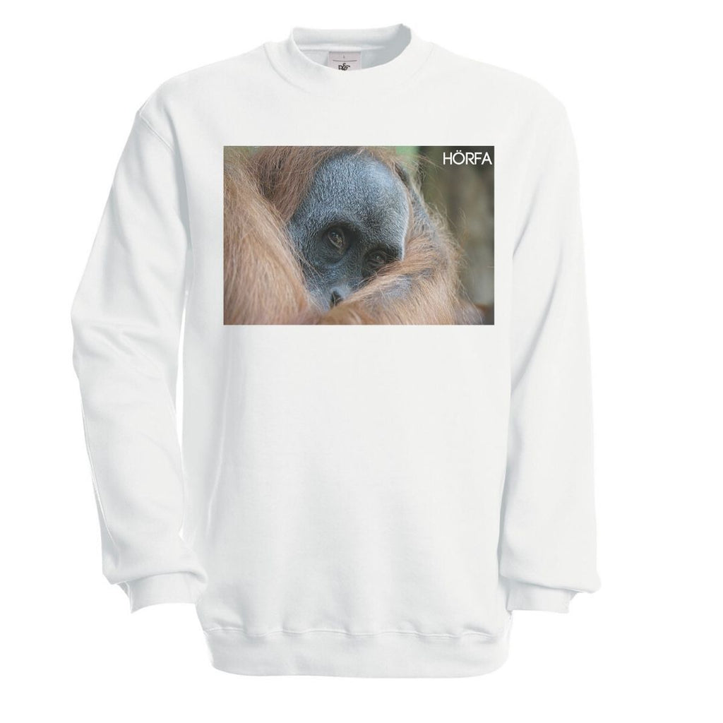 Örangutan Sweatshirt in White