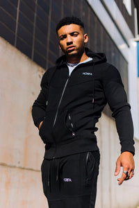 Men's tracksuit top and bottoms as featured in our Callum Izard collection