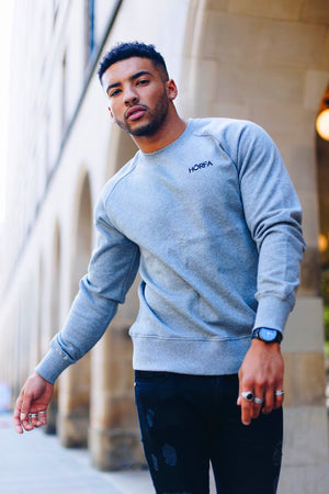 Marl grey sweatshirt for men from our Callum Izard Collection