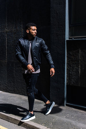 Callum Izard Collection featuring our HORFA bomber jacket