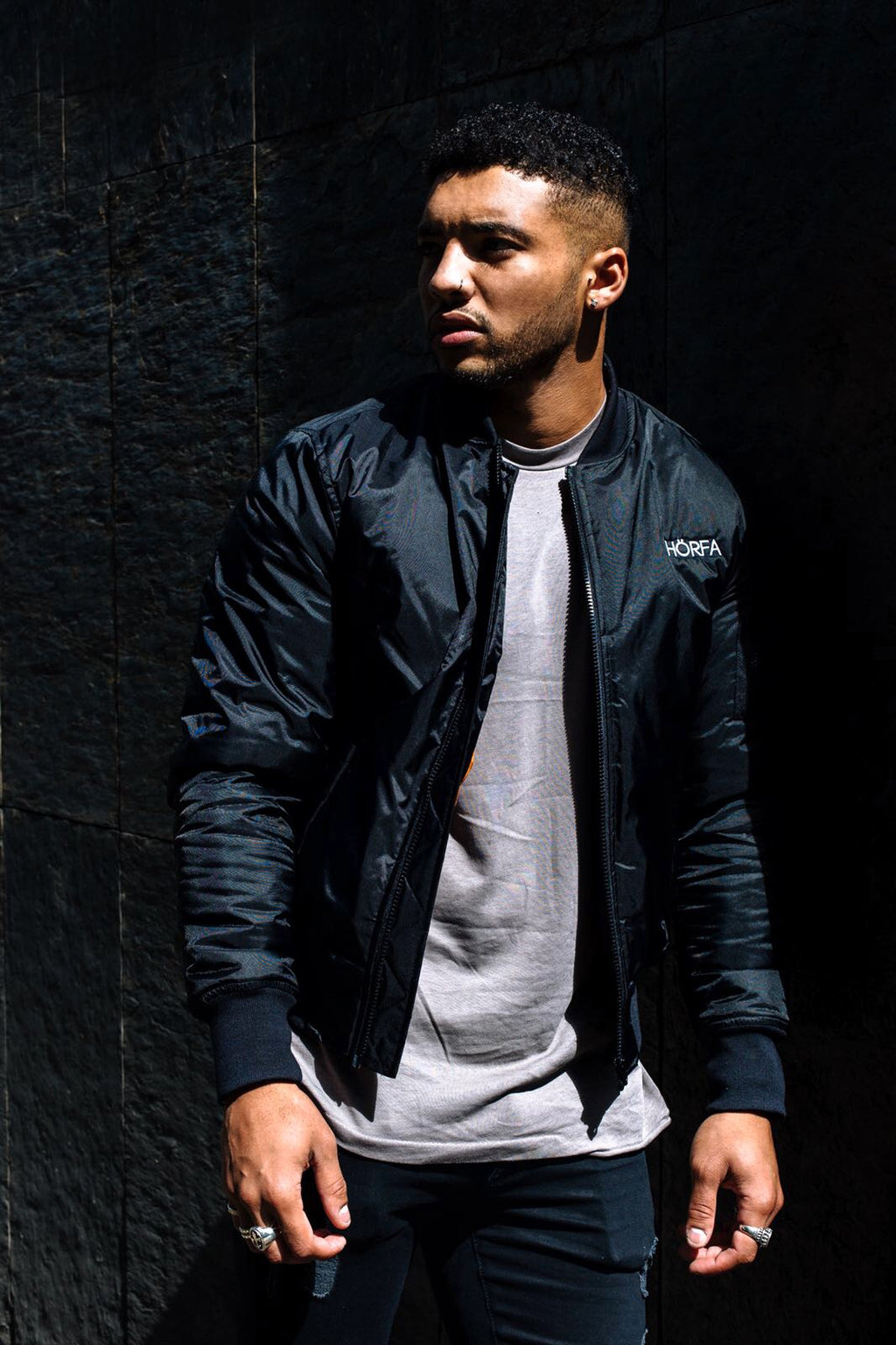 Buy now, our bomber jacket as worn and featured in our Callum Izard collection