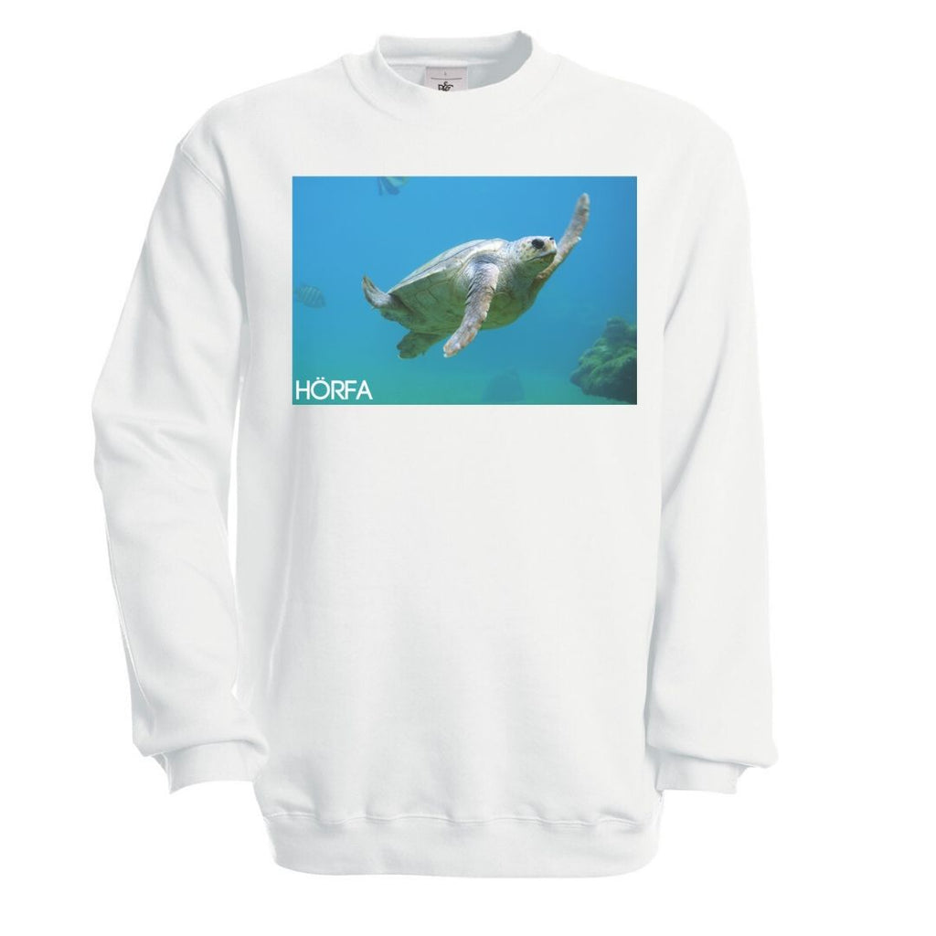 Sea Turtle Sweatshirt in White