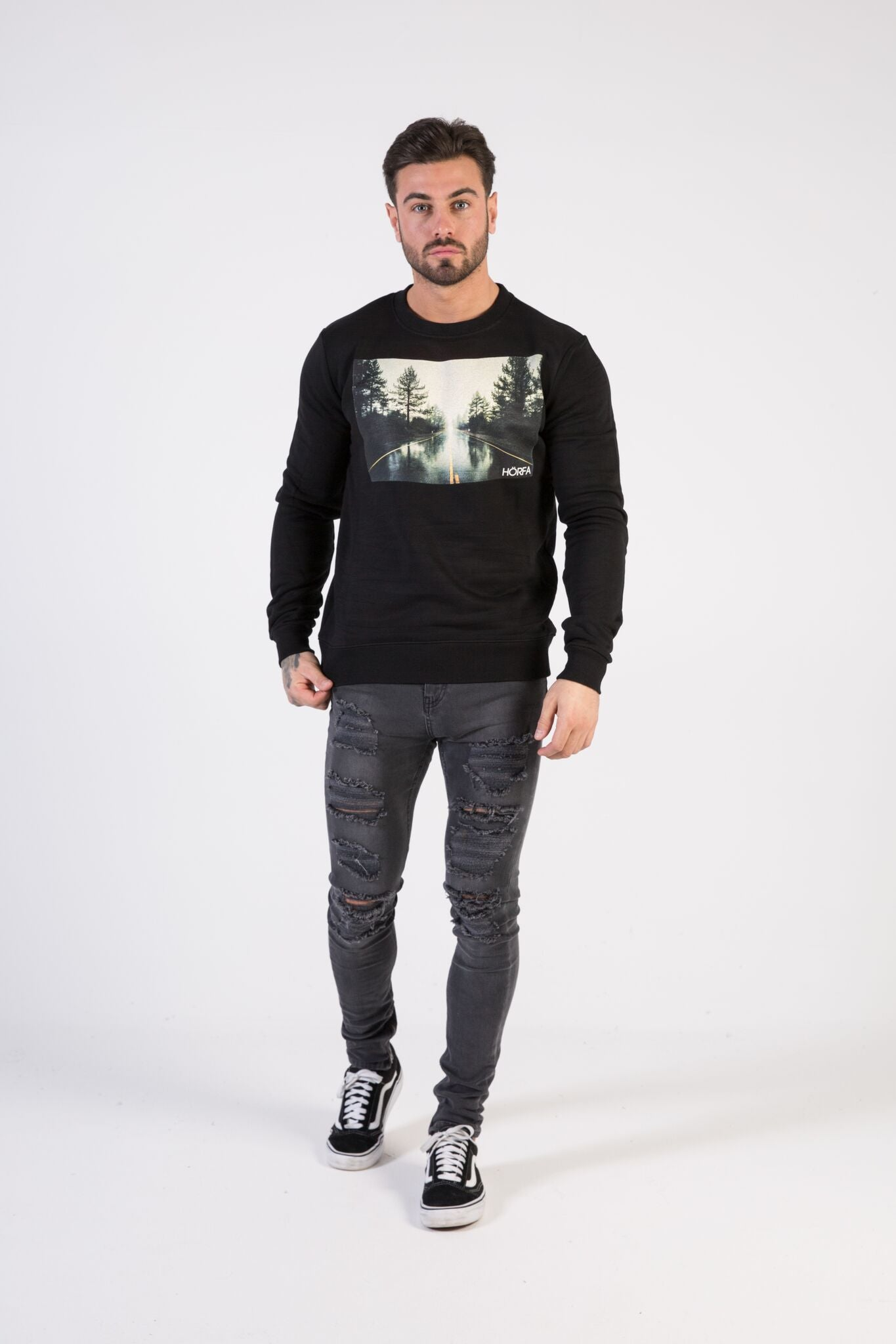 OPEN ROAD Sweatshirt - HÖRFA is a men's global fashion brand that provides products such as Fashionable Watches, Wallets, Sunglasses, Belts, Beard and Male Grooming Products