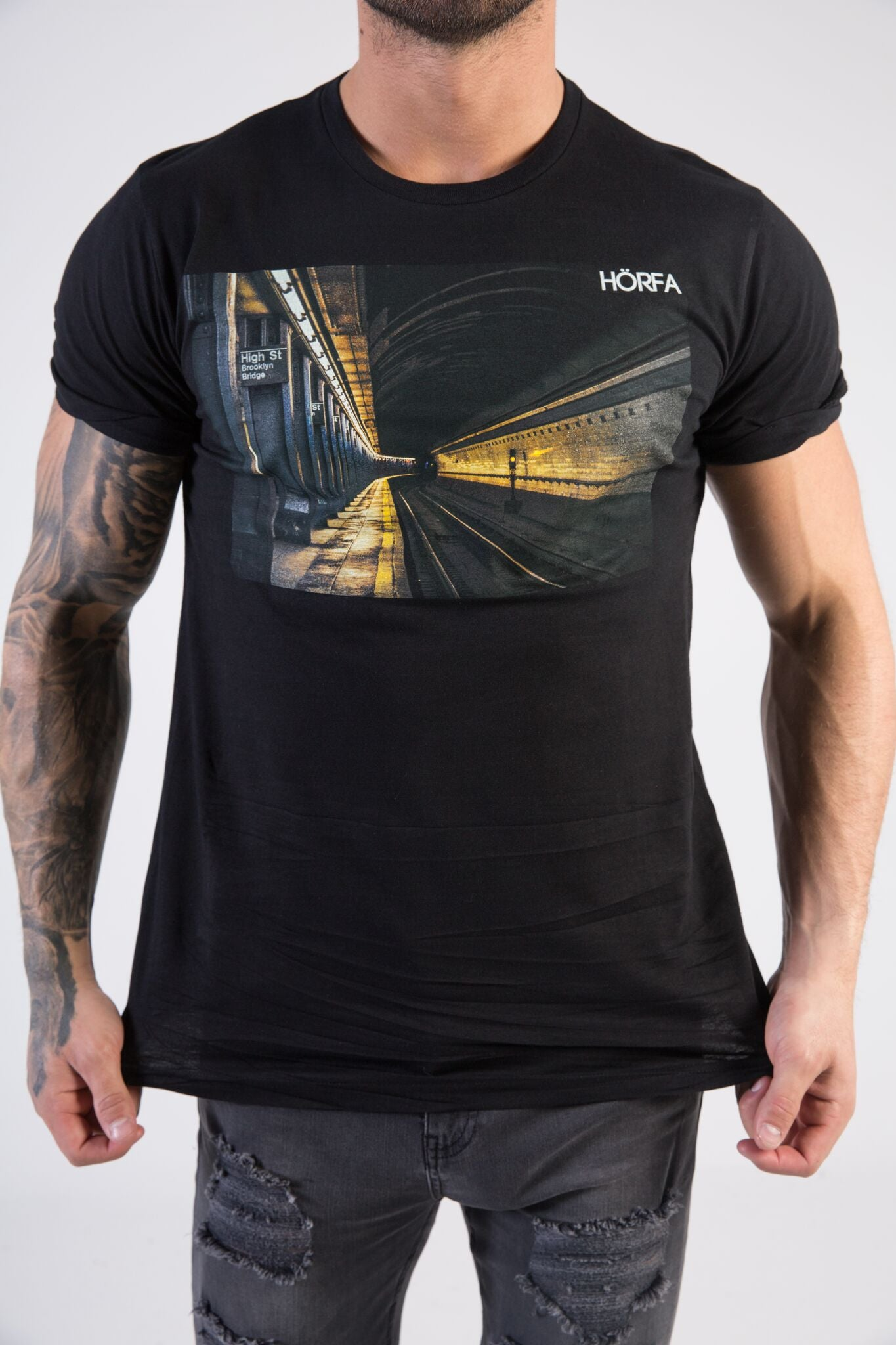 SUB STATION Muscle Fit T-Shirt - HÖRFA is a men's global fashion brand that provides products such as Fashionable Watches, Wallets, Sunglasses, Belts, Beard and Male Grooming Products