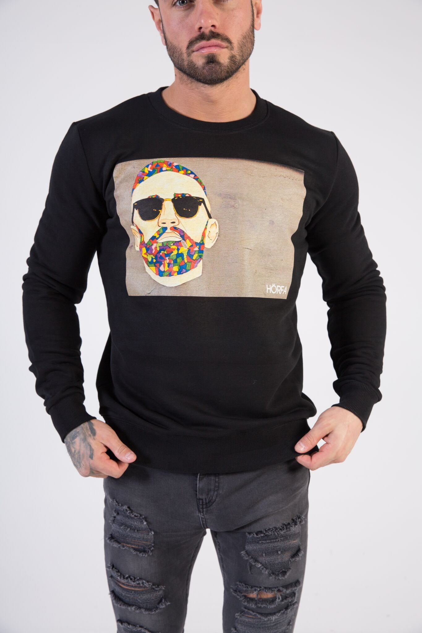 GRAFFITI SUNGLASSES Sweatshirt - HÖRFA is a men's global fashion brand that provides products such as Fashionable Watches, Wallets, Sunglasses, Belts, Beard and Male Grooming Products