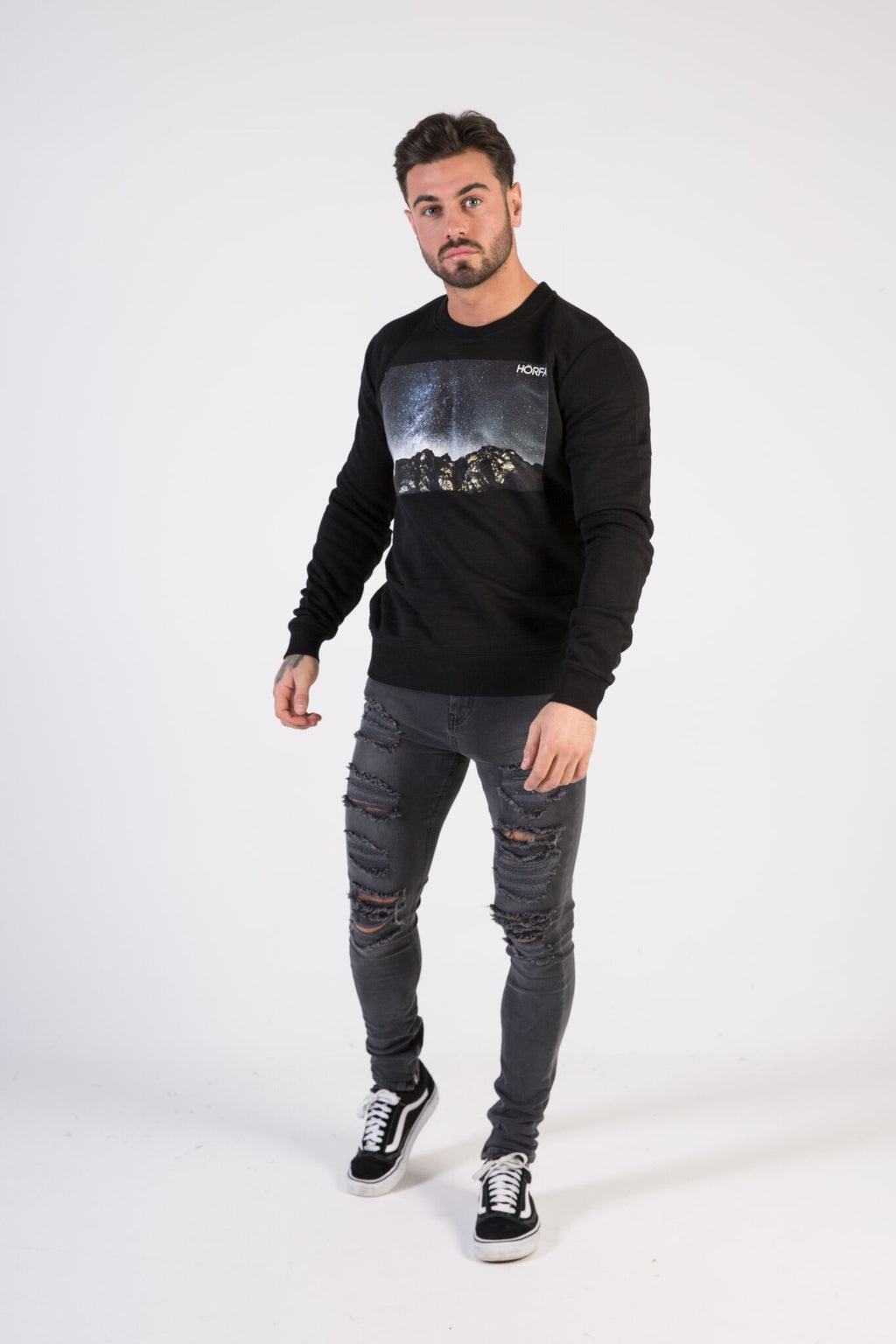 STARGAZER Sweatshirt - HÖRFA is a men's global fashion brand that provides products such as Fashionable Watches, Wallets, Sunglasses, Belts, Beard and Male Grooming Products