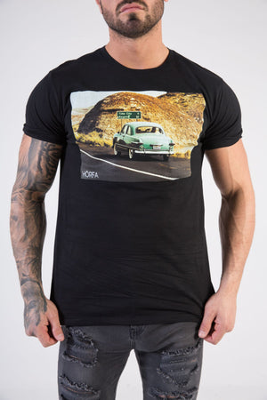 ROADTRIP Muscle Fit T-Shirt - HÖRFA is a men's global fashion brand that provides products such as Fashionable Watches, Wallets, Sunglasses, Belts, Beard and Male Grooming Products