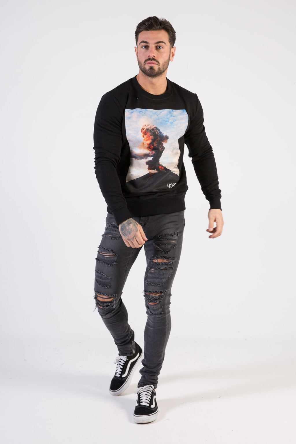 ERUPTION Sweatshirt - HÖRFA is a men's global fashion brand that provides products such as Fashionable Watches, Wallets, Sunglasses, Belts, Beard and Male Grooming Products