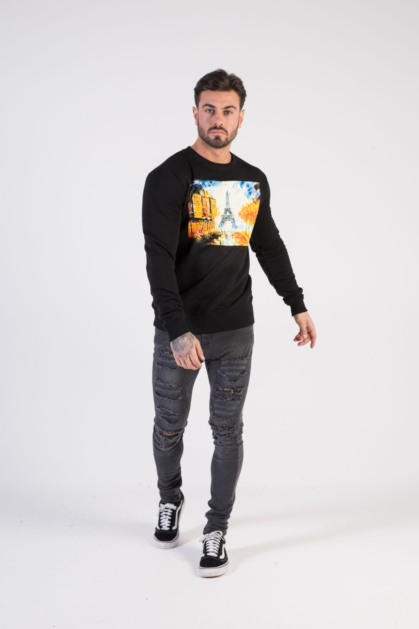 WATERCOLOUR IN PARIS Sweatshirt - HÖRFA is a men's global fashion brand that provides products such as Fashionable Watches, Wallets, Sunglasses, Belts, Beard and Male Grooming Products