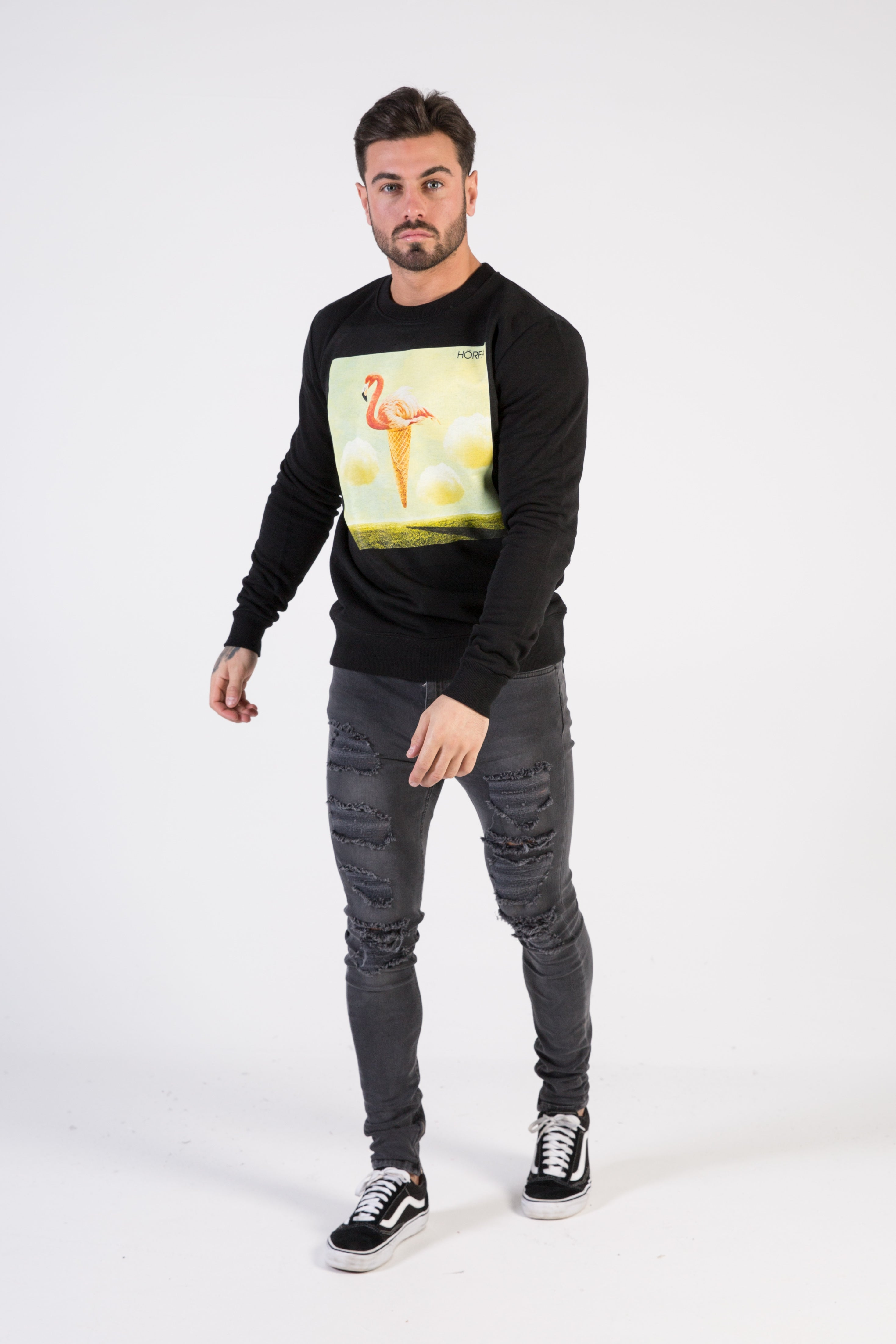 FLAMINGO Sweatshirt - HÖRFA is a men's global fashion brand that provides products such as Fashionable Watches, Wallets, Sunglasses, Belts, Beard and Male Grooming Products
