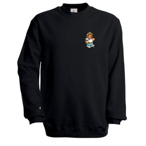 Töby Classic Crest Sweatshirt in Black
