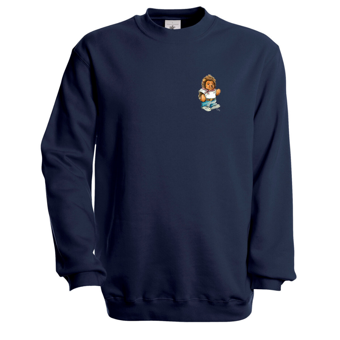 Töby Classic Crest Sweatshirt in Navy Blue
