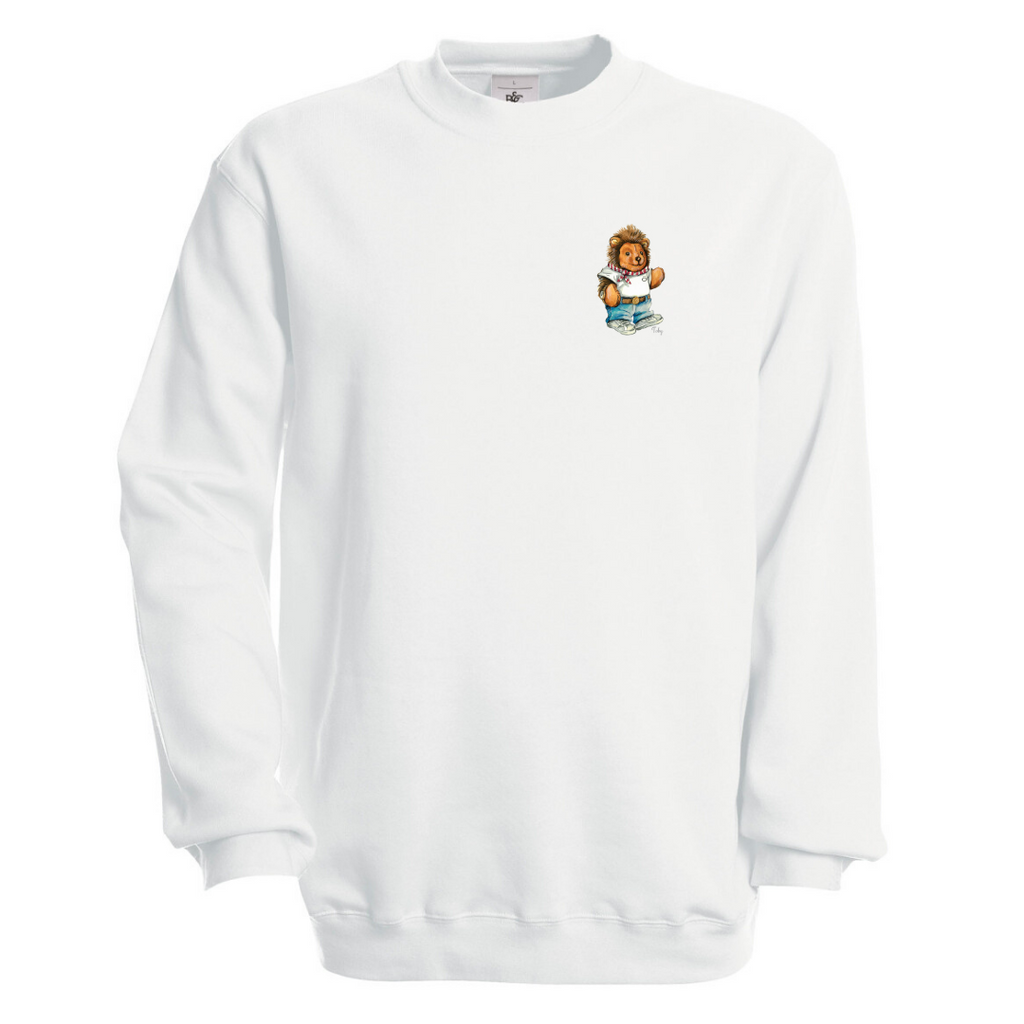 Töby Classic Crest Sweatshirt in White