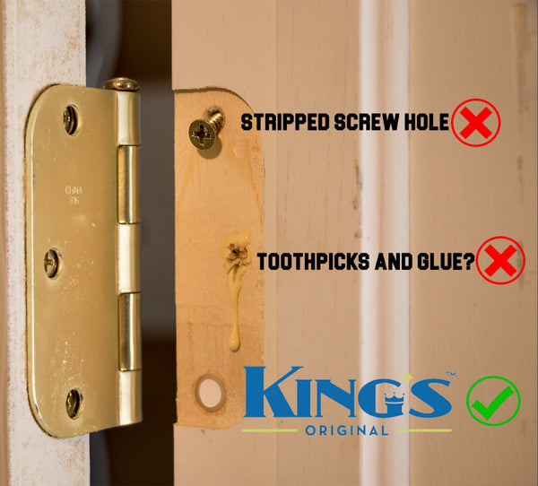 Fix A Stripped Screw For A Door Hinge
