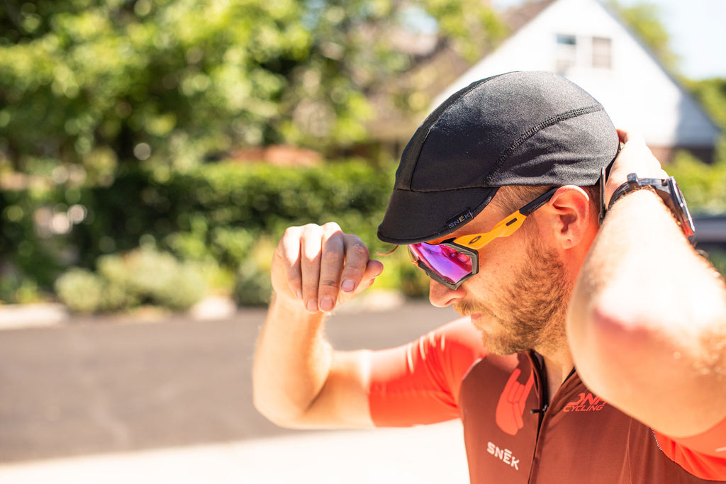 snek cycling summer riding how to stay cool merino cycling cap jersey