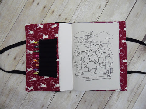 Coloring Book Tote - Maroon Deer Head