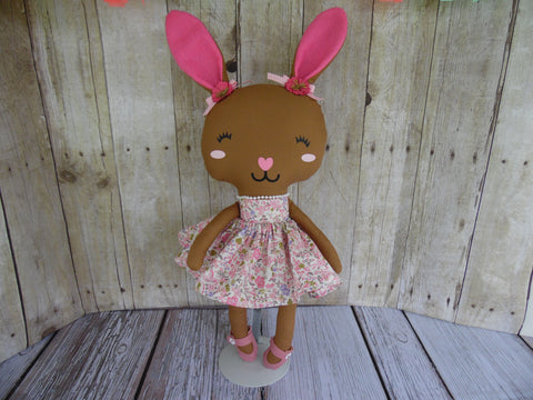 Bunny, Brown, Girl, Pink