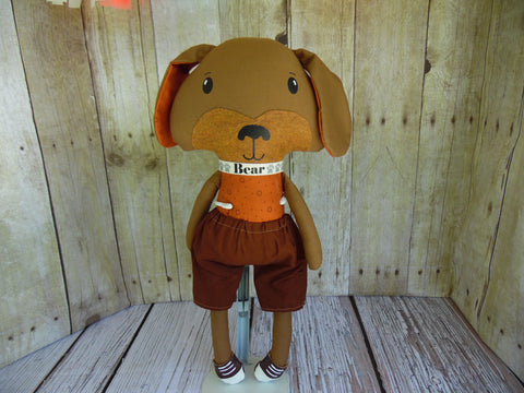 Puppy Dog, Brown, Boy, Rust/Brown