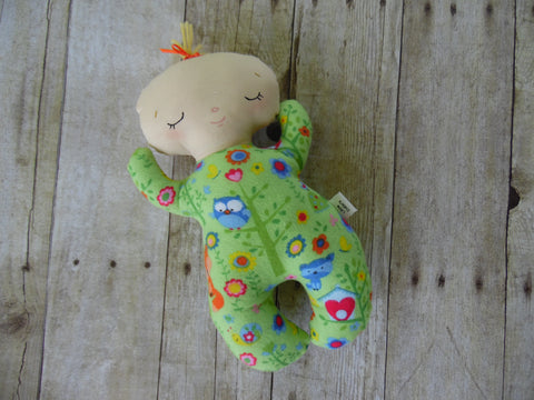 Butterbean Baby - White Girl - Green Woodlands Print