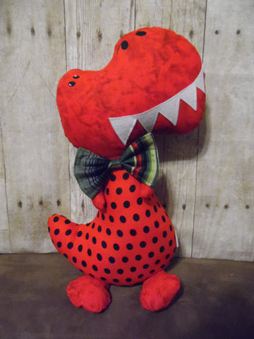Dinosaur, Boy, T-Rex, Red with Polka Dots
