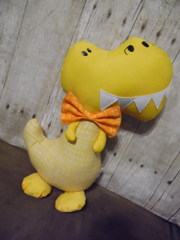 Dinosaur, Boy, T-Rex, Yellow with Checked Body