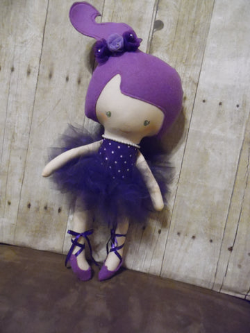 Ballerina Doll, White, Purple