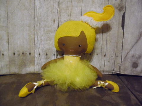 Ballerina Doll, Dark, Yellow