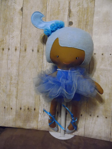 Ballerina Doll, Dark, Blue