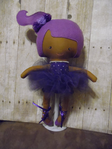 Ballerina Doll, Dark, Purple
