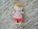 Wee Baby Girl Doll, White, Pink Shorts/Floral Top