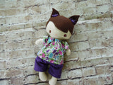 Wee Baby Girl Doll, White, Purple Shorts/Floral Top