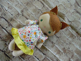 Wee Baby Girl Doll, White, Yellow Skirt/Star Print Top