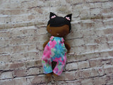 Wee Baby Girl Doll, Dark, Pink/Blue Overalls
