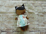 Wee Baby Girl Doll, Dark, White/Blue Paris Dress