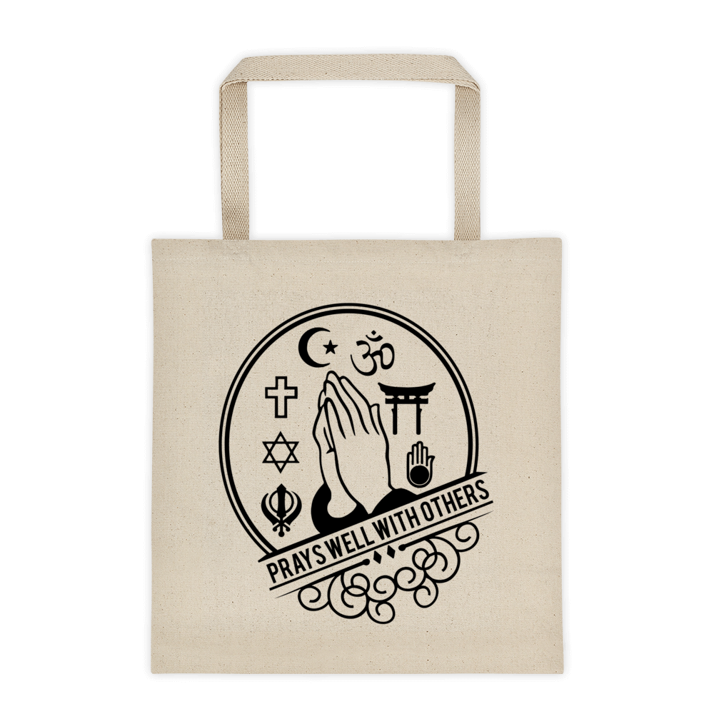 Prays Well With Others Tote bag