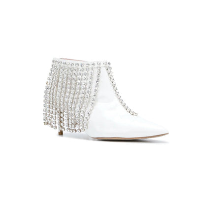 Crystal Fringe Booties