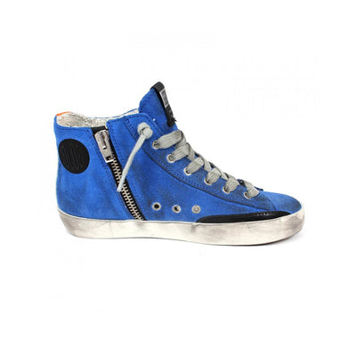 Francy Blue Suede Sneakers Kids