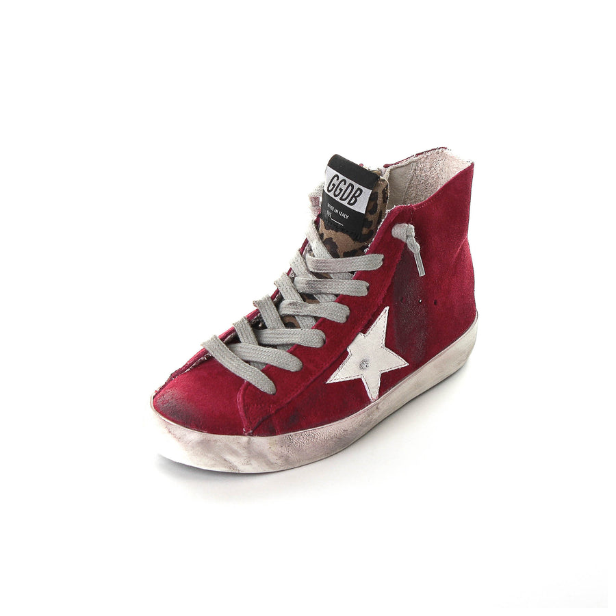 Francy Red Suede Sneakers Kids
