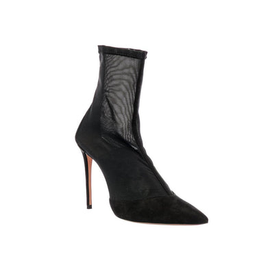 Hot Stuff suede and mesh ankle boots