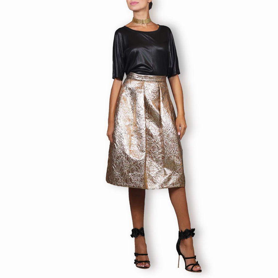 Metallic Brocade Skirt