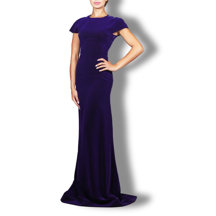 Silk Velvet Evening Gown