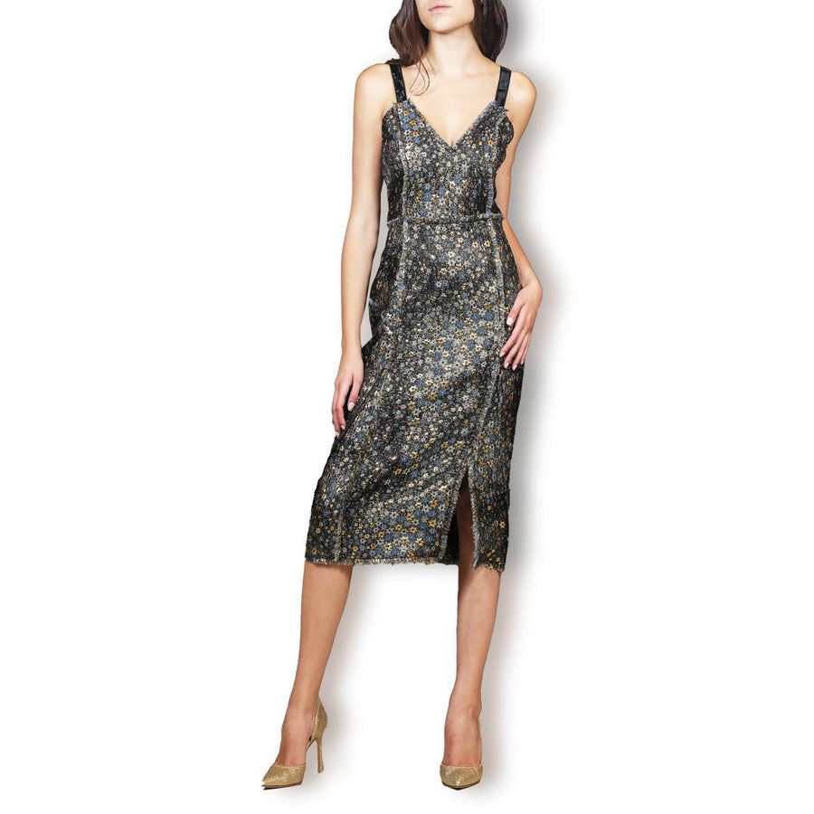 Elissa star-jacquard Dress