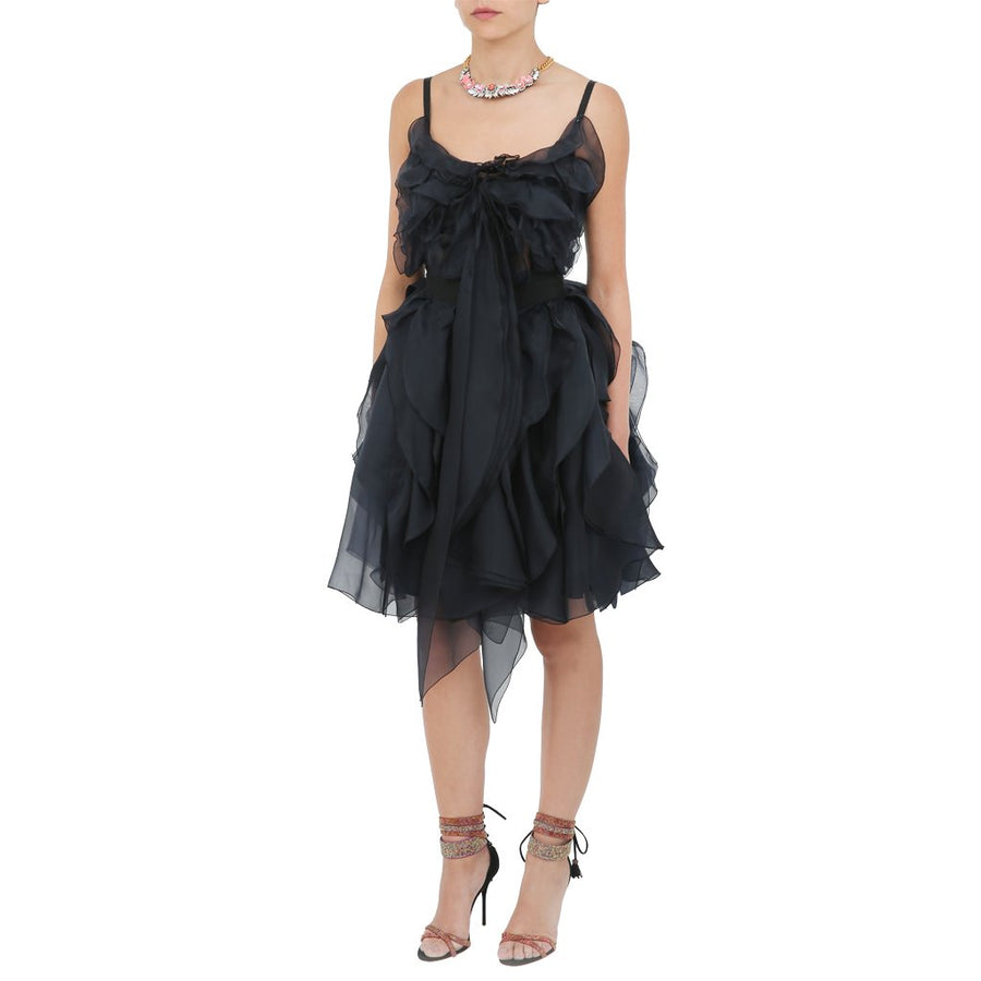 Ruffle Silk Dress