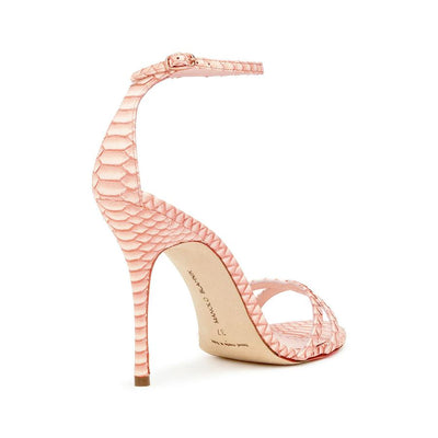 Paloma 105 red degrade snake sandals